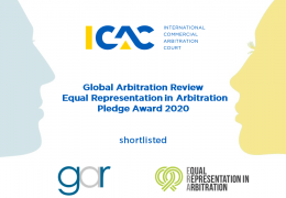 ICAC is shortlisted for the Equal Representation in Arbitration Pledge Award by GAR.