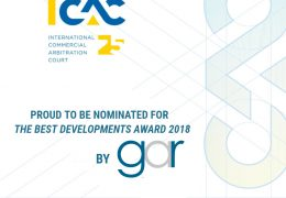 Global Arbitration Review shortlisted the ICAC for the Best Developments Award