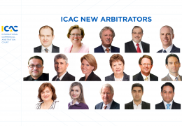 ICAC is Pleased to Announce New Recommended Arbitrators